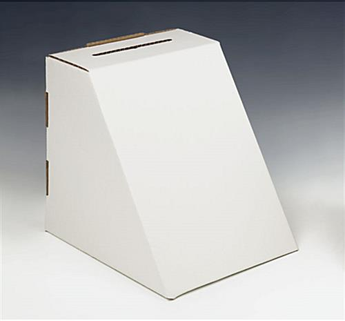 "Buy White Cardboard Contest Box For 8-1/2"" x 11"" Graphic"