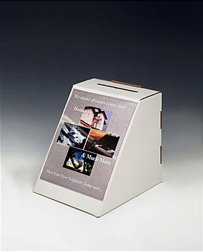 Cardboard 8.5 x 11 Suggestion Box With Graphics Holders