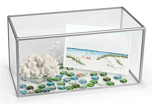 "Clear 10"" x 20"" acrylic collectible display"