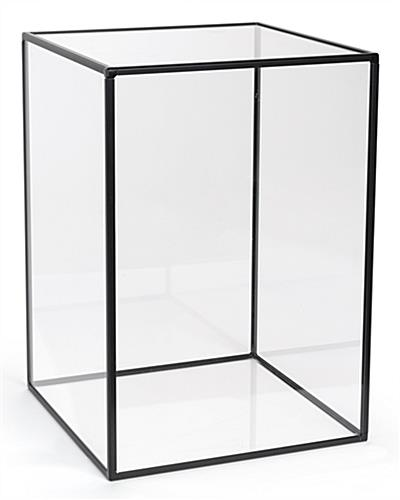 Black framed large square acrylic display case
