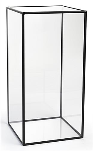Clear panels square acrylic medium display case