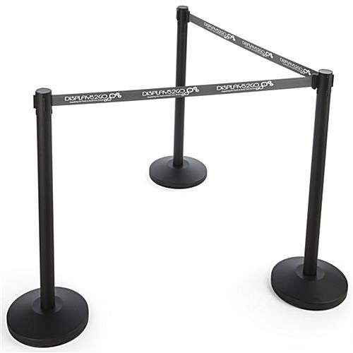 Stanchion with Gray Printed Belt & Single Sided Graphics