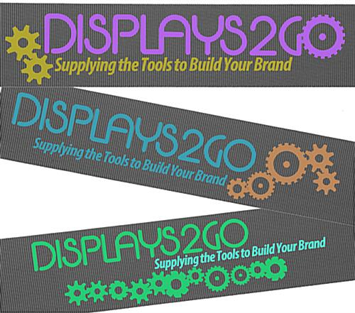 Stanchion with Gray Printed Belt & 2 Color Graphics