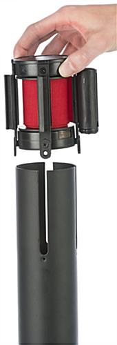 Stanchion with Red Printed Belt & Removable Adaptor