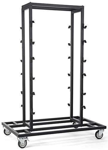Black Stanchion Storage Cart