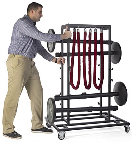 Mobile Stanchion Storage Cart