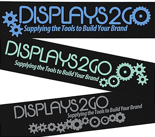 6.5' Black Custom Stanchion Belt with 1 Color Printing