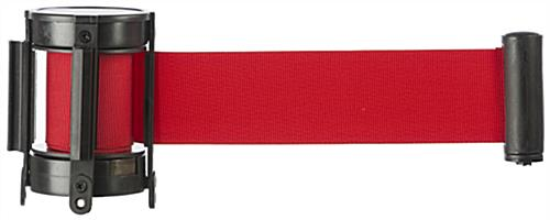 Red Custom Stanchion Belt with 1 Color Printing & 4 Way Adaptor