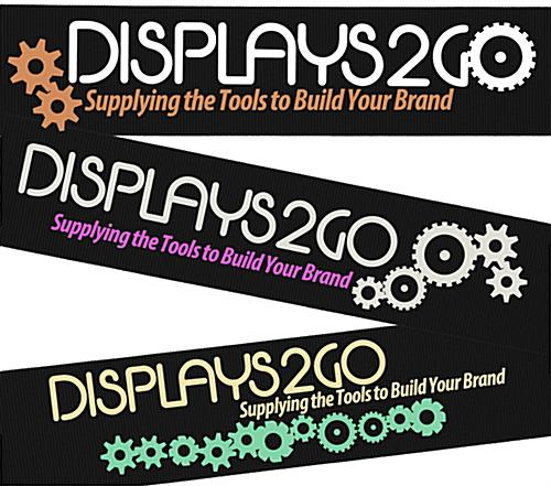 Nylon Black Custom Stanchion Belt with 2 Color Printing