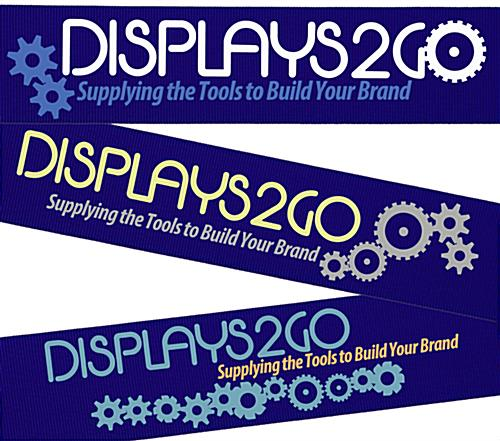 Silkscreened Blue Custom Stanchion Belt with 2 Color Printing