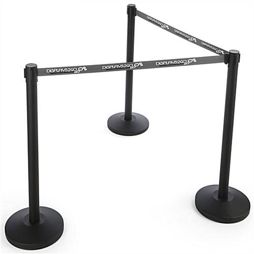 QueuePole.Economy Gray Custom Stanchion Belt with 2 Color Printing