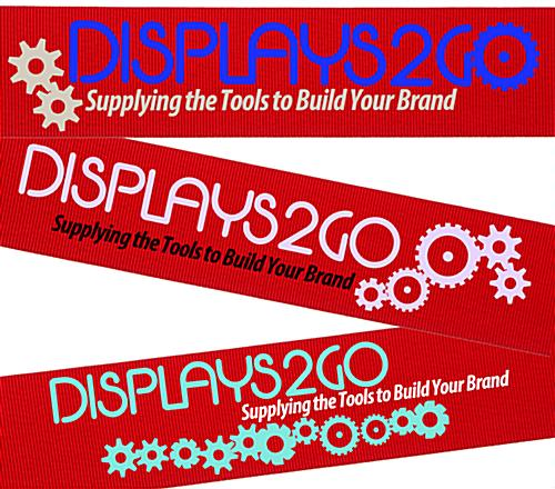 6.5' Long Red Custom Stanchion Belt with 2 Color Printing