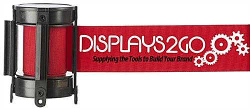 Silkscreened Red Custom Stanchion Belt with 2 Color Printing