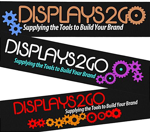 Nylon Band Black Custom Stanchion Belt with 3 Color Printing