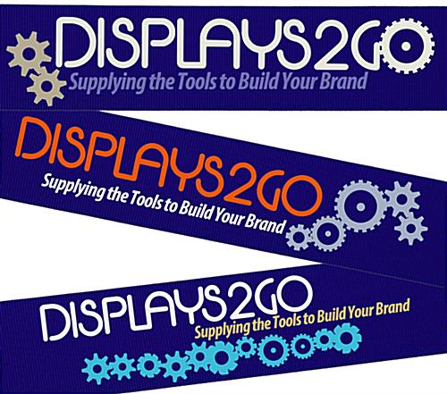 Silkscreened Blue Custom Stanchion Belt with 3 Color Printing