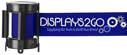 Removable Blue Custom Stanchion Belt with 3 Color Printing