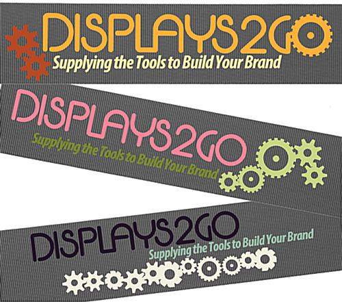 Silkscreened Gray Custom Stanchion Belt with 3 Color Printing