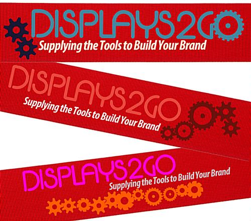 Silkscreened Red Custom Stanchion Belt with 3 Color Printing