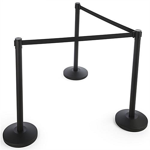 Black Stanchion Belt for Crowd Control