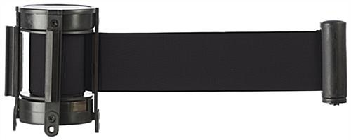 Black Stanchion Belt Measuring 6.5 Feet Long