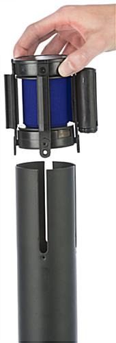 Blue Stanchion Belt Attachment