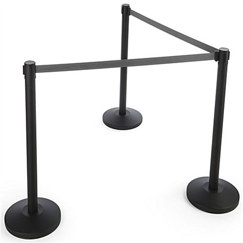 Gray Stanchion Belt Measuring 6.5' Long
