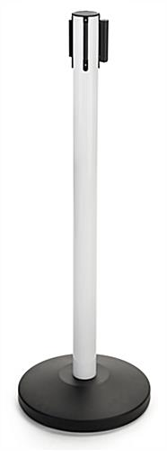 White Metal Post with Reflective Belt Stanchions