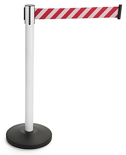 Red and White Reflective Belt Stanchions for High Visibility