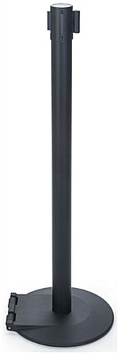 Belt Stanchion with Black Powder Coated Steel