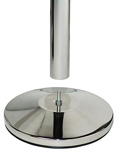 Dual Belt Chrome Stanchion Receiver, Weighs 21.5 lbs