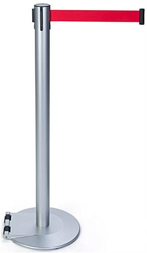 Floor Standing Barrier Posts with Rectractable Belt