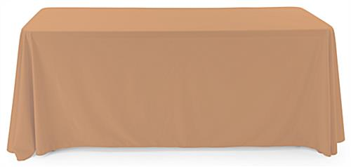 Beige polyester table cover with fireproof fabric