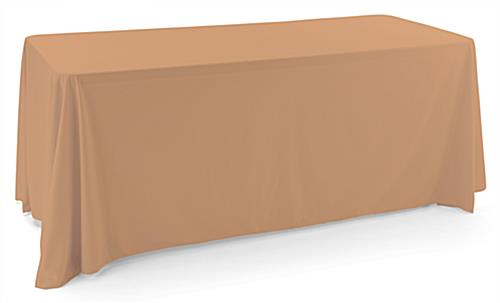 Beige polyester table cover with machine washable fabric