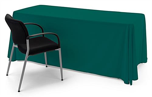 Green polyester table cover with durable long lasting fabric