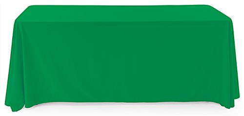 Kelly Green Polyester table cover with flame retardant material