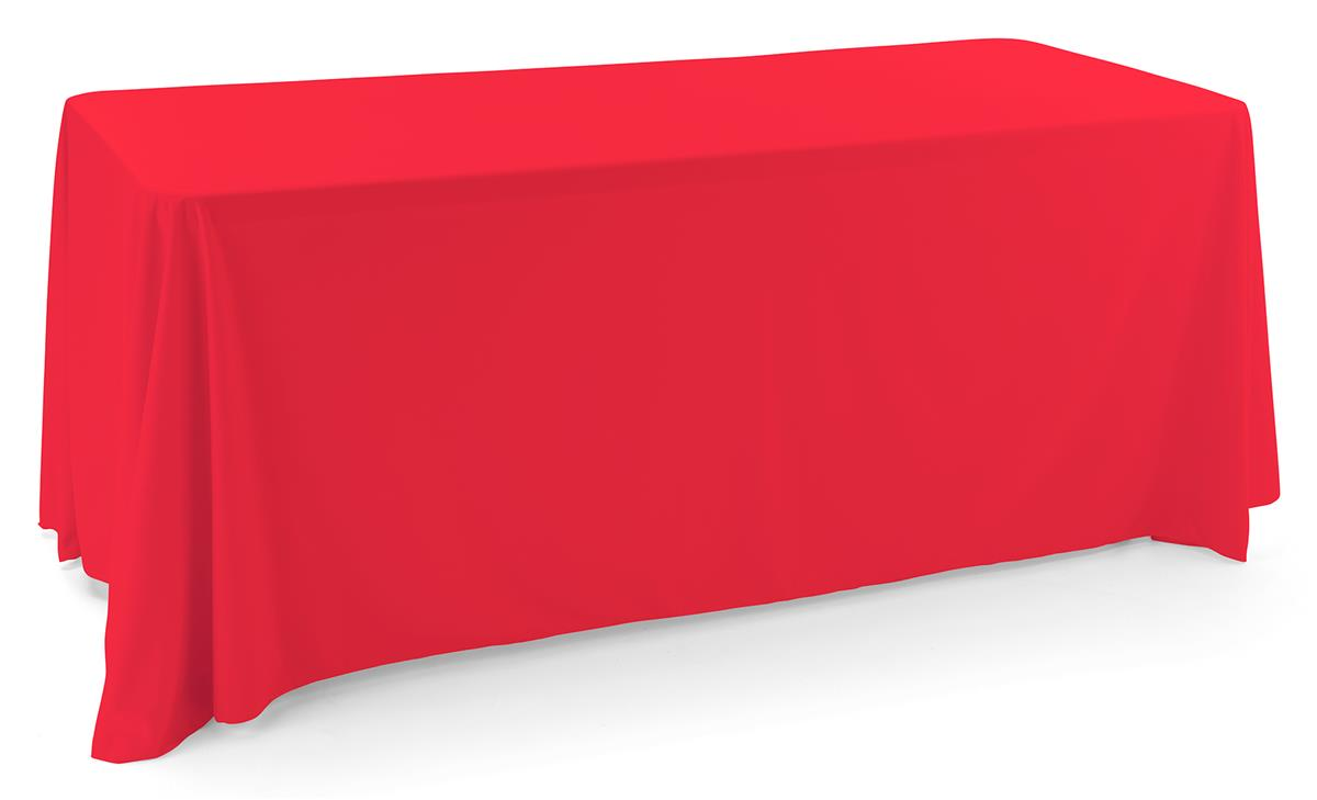 Polyester table cover with red color