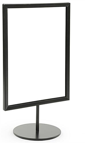 Black 8.5 x 11 Tabletop Sign Stand