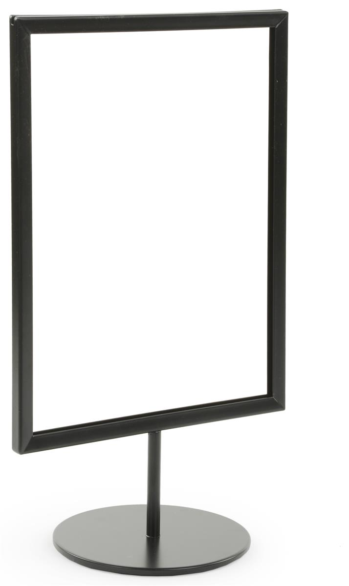 Black 8 5 X 11 Tabletop Sign Stand For Retail Posters