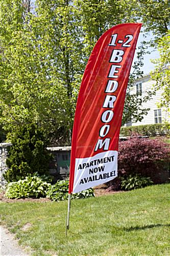 1-2 BEDROOM Red Sail Flag for Use Outdoors