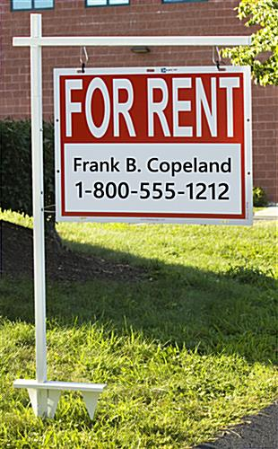 Real Estate Sign Post W Colonial Style Look amp White Finish