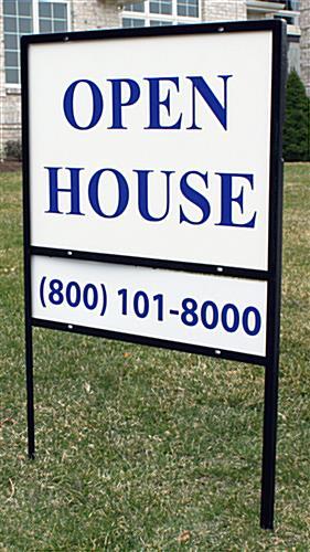 Real Estate Yard Sign W Dual Display Areas