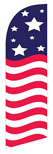 Fade resistant Stars & Stripes feather banner
