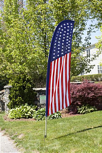 Outdoor patriotic feather flag banner