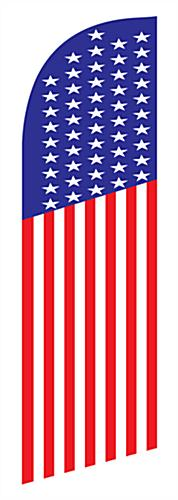 Polyester patriotic feather flag banner