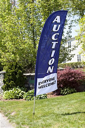 Outdoor AUCTION Blue Flag Banner