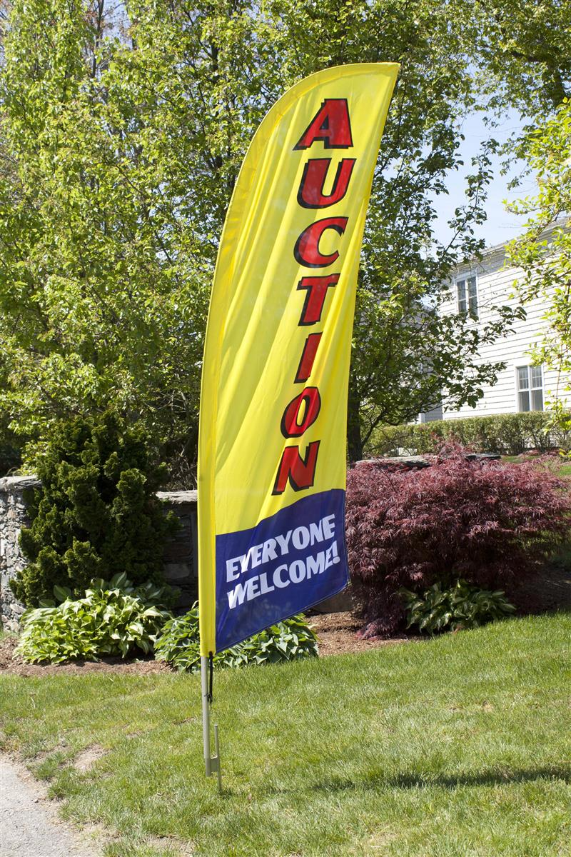 Auction Feather Flags Firesale And Closeout Signage