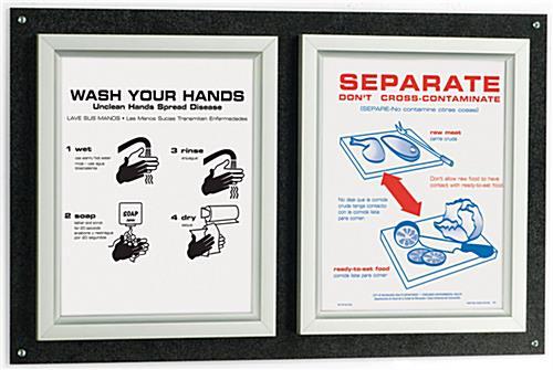 metal poster frame w dual 8 5 x 11 slide load design. Black Bedroom Furniture Sets. Home Design Ideas
