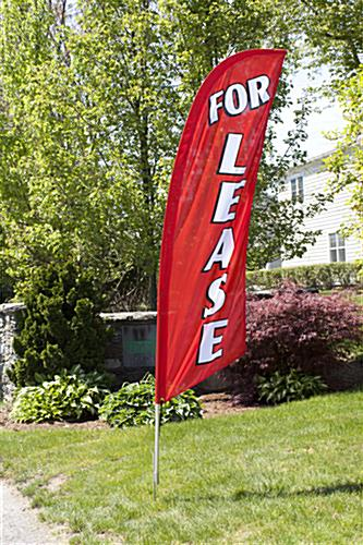 Outdoor FOR LEASE red message flag