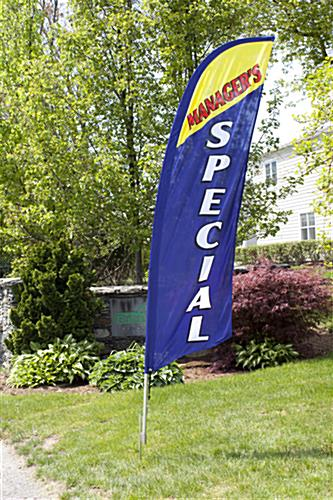 Outdoor MANAGERS SPECIAL blue flag banner