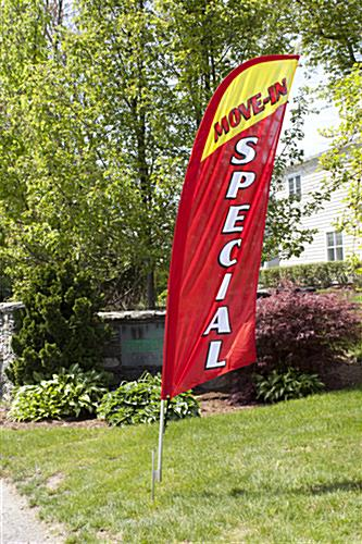 Outdoor MOVE-IN SPECIAL red realtor flag